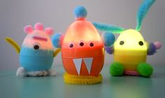 DIY Monsters with Candle Impressions Flameless Tea Lights and old Easter eggs.