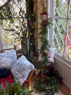 a beautiful place to sit at Christmas . . .
