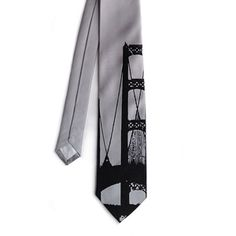 Mackinac Bridge Tie Silver - Detroit Institute of Arts Museum Shop