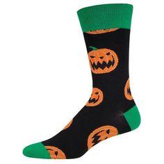 Men's Halloween Pumpkins Socks