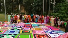 49 baby blankets joined by Pune team of MICQ 2016 , for the Guiness record.