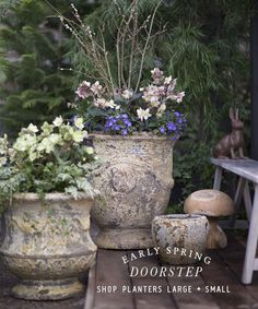 Spring Doorstep | shop planters large + small