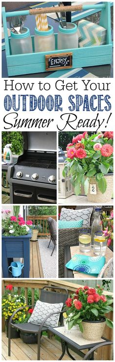 How to get your outdoor spaces ready for summer with free printables to keep you on track! Part of The Household Organization Diet.