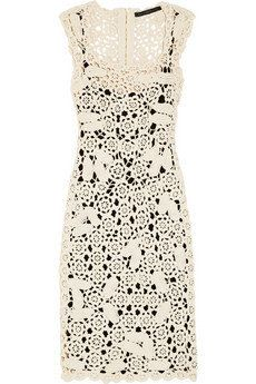 Marc by Marc Jacobs Crocheted cotton dress NET-A-PORTER.COM on Wanelo
