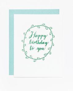 Happy Birthday to You Card (Botanic)