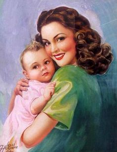 Mother and child, 1930's or 40's ...I love how the styles change over the years. By  Jesus Helguara