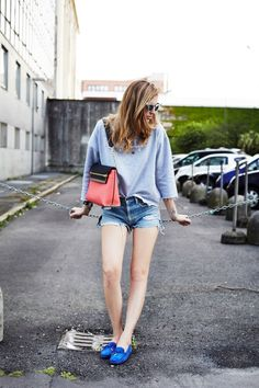 TOD'S GOMMINO LOAFERS GAELLE BONHEUR SWEATSHIRT LEVI'S SHORTS CHLOE' CLARE LEATHER BAG DAQAURED LIMITED EDITION  SWAROVSKI CRYSTAL SUNGLASSES