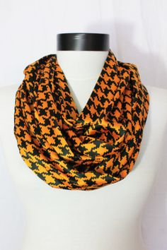 black and yellow  long infinity scarf by salihadilber on Etsy, $16.90