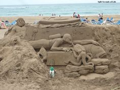 We can't get enough of sand sculpture art.