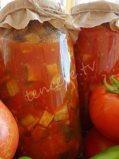 Domates Soslu Patlıcan Konservesi Salsa, Vegetables, Food, Essen, Vegetable Recipes, Salsa Music, Meals, Yemek, Veggies