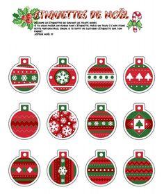 Wonderful printable for a small Christmas tree. Free Christmas Printables, Christmas Stickers, Christmas Gift Tags, Christmas Paper, Christmas Holidays, Christmas Crafts, Christmas Decorations, Christmas Activities, Christmas Ornaments