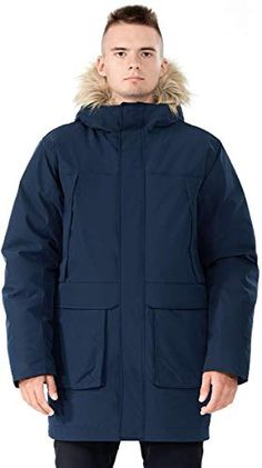XiaoTianXinMen XTX Men Plus Size FauxFurHood Warm Winter Mid Length Quilted Jacket Coat Outerwear