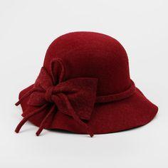 Fashion Vintage wool Wide-Brim Fedoras Hats for Women Bowler Floppy  Feminino Autumn Ladies Cap Bowler Gambler Top Hat wholesale 1b0ed13fcff7