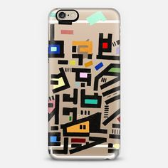 "Whoa. Check out this design on Casetify! ""colorful city disorganitzation"" by Barruf."