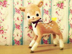 【オーダー】羊毛フェルトバンビちゃん by *moco* ぬいぐるみ・人形 フェルト