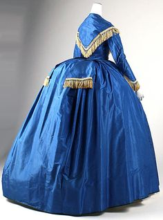 Wedding dress, ca. 1868, silk