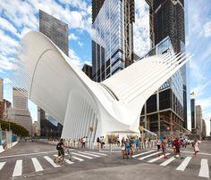 WTC Transportation Hub - Novo terminal de transportes do World Trade Center em Nova York  Foi projetada pelo arquiteto Santiago Calatrava e deve ser completada em 2015