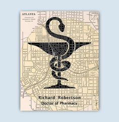Pharmacy Art Personalized Pharmacist print by GeographicArt