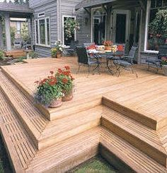 Deck Ideas @Gineene Paulson Yates This would be nice at the house