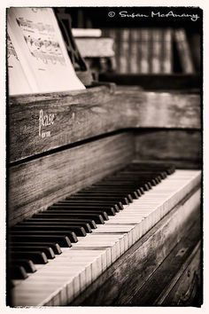 Vintage Piano Photograph Print Wall Art Black and White by McAnany