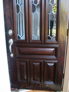How To Refinish Your Front Door Using Minwax Gel stain  {Texas Mom Who Loves Curb Finds}