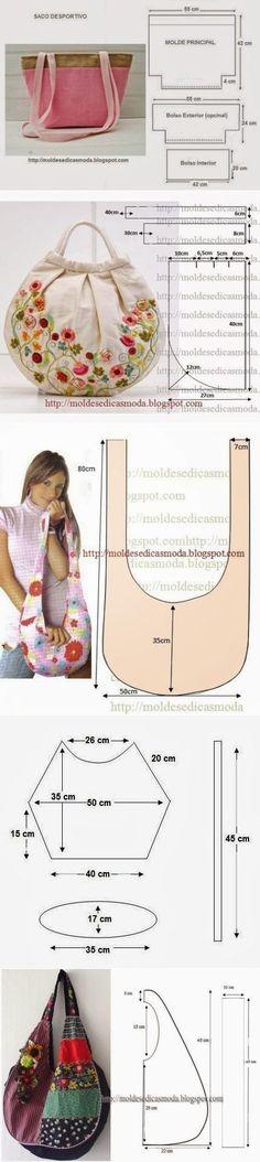 Интересные сумки с выкройками. My Bags, Baskets, Model, Ideas, Quilts, Tela, Sewing Patterns, Tutorials, Toys