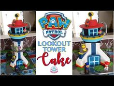 HOW TO MAKE A PAW PATROL LOOKOUT TOWER CAKE | Abbyliciousz The Cake Boutique - YouTube