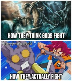 Read How Gods Fight from the story DBZ Pictures by (JJX) with 178 reads. Dragon Ball Z, Dragon Z, Funny Dragon, Dbz Pictures, Dbz Memes, Funny Memes, Funny Pics, Anime Echii, Pokemon
