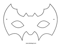 Pipistrello - Maschera da colorare - TuttoDisegni.com Halloween Templates, Halloween Crafts For Kids, Halloween Bats, Craft Projects For Kids, Fall Crafts, Carnival Crafts, Carnival Decorations, Carnival Masks, Imprimibles Halloween