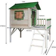 Tree House Playground, Kids Backyard Playground, Backyard For Kids, Pallet Tree Houses, Cool Tree Houses, Tin House, House Deck, Playhouses For Sale, Wood Playhouse