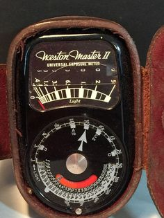 Vintage Weston Light Meter Model 735 with Case | eBay