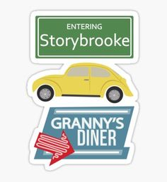 Once Upon a Time - Storybrooke Sticker Tumblr Stickers, Phone Stickers, Ouat, Once Upon A Time, Homemade Stickers, Aesthetic Stickers, Pin And Patches, Scrapbook Stickers, Sticker Design