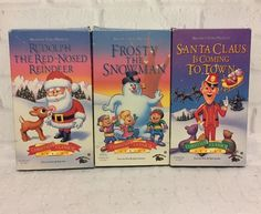 Christmas Classics Series VHS Set of 3 Santa Claus Rudolph Frosty the Snowman  | DVDs & Movies, VHS Tapes | eBay!
