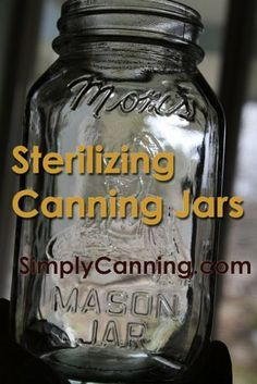 Sterilizing Jars for Home Canning~In water-bath canning sterilizing jars is not needed as long as processing time is more than 10 minutes. Most recipes call for at least 10 mi. Canning Food Preservation, Preserving Food, Pot Mason, Mason Jars, Kombucha, Sterilizing Canning Jars, Water Bath Canning, Canning Tips, Canning Beans