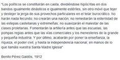 Los políticos se constituirán en casta... Perez Galdos pic.twitter.com/xFrpBV4RcZ