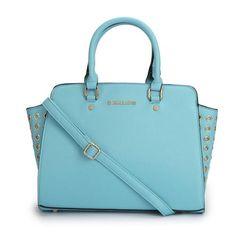 FREE SHIPPING Michael Kors Selma Top-Zip Grommet Blue Satchels | EmeseBoutique - Bags & Purses on ArtFire