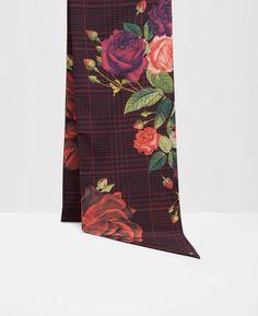 68c7db275965f Juxtapose Rose skinny scarf Skinny Scarves