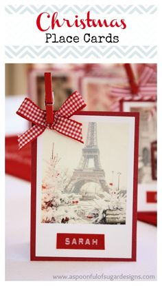 Christmas Place Cards | A Spoonful of Sugar