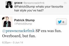 Patrick Stump tweet