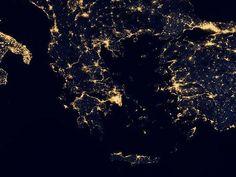 Αποτέλεσμα εικόνας για view of greece from space
