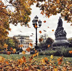 Золотая осень в Екатерининском саду