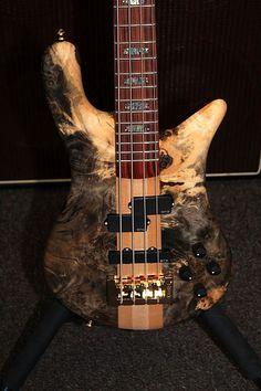 "Spector USA Series NS-2 Custom ""Premium Buckeye Burl"" neck-through 4 string Bass"