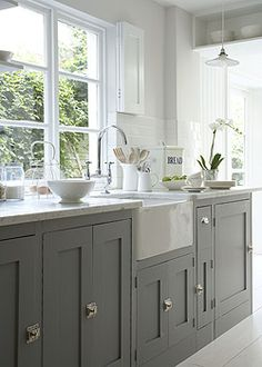 Butlers Sink and Grey Painted Units, Heaven!