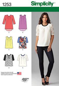 Simplicity Pattern 1253D5 4-6-8-10-1-Top / Vest