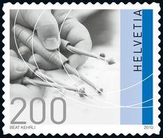 Schweiz 2010 - Freimarken: Traditionelles Handwerk - Klöppeln Lacemaking, Art Series, Bobbin Lace, Stamp Collecting, Postage Stamps, Folk Art, Lace Pillows, Switzerland, Coins