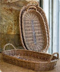 Farmhouse Oblong Willow Trays ST/3