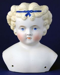 "Antique parian doll shoulderhead Conta & Bohme Dolly Madison 6"""