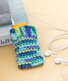 iPod Cozy Crochet Pattern  #crochet  #redheartyarns