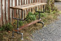 Weathered Gray Wood and Industrial Pipe Bar Height Table - Front Royal Virginia