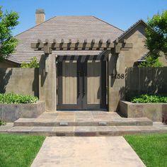 Pergola over existing front door